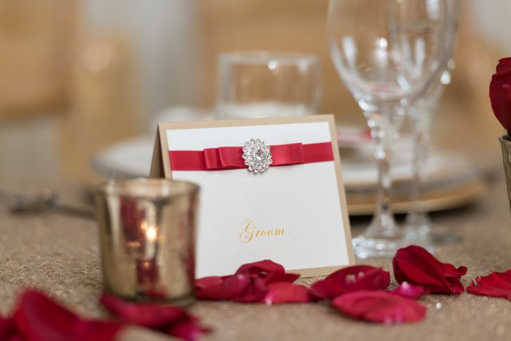 Bespoke The Wedding Event, Regal Red & Gold Wedding, Wedding Personalized Stationary, Wedding Graphic Design, Table Setting
