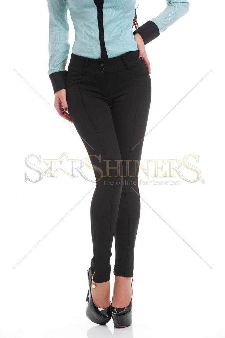Artista Classic Cut Black Trousers