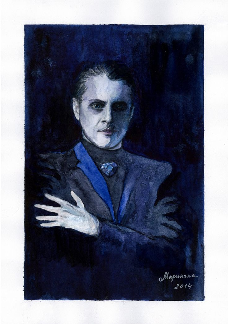 "Du brauchst mich. Ja, du brauchst mich...  Ivan Ozhogin as Der Tod from the musical ""Elisabeth"". Watercolor, A4."