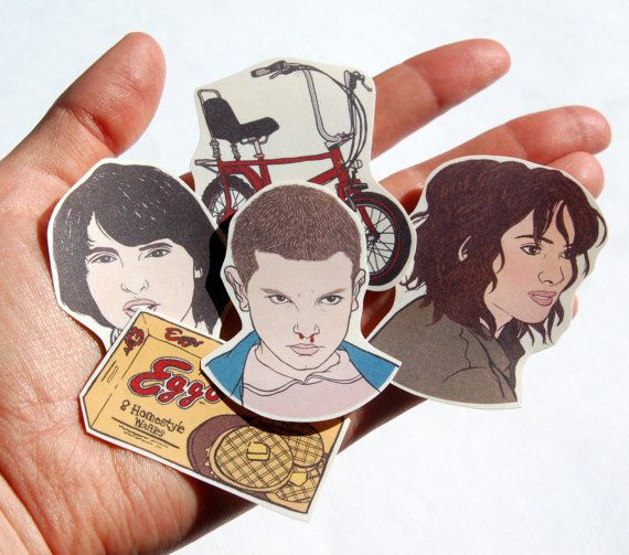 Stranger Things Stickers Fridge Magnets Pack By