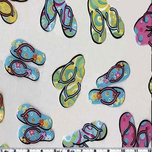 Clear Vinyl Printed Flip Flops