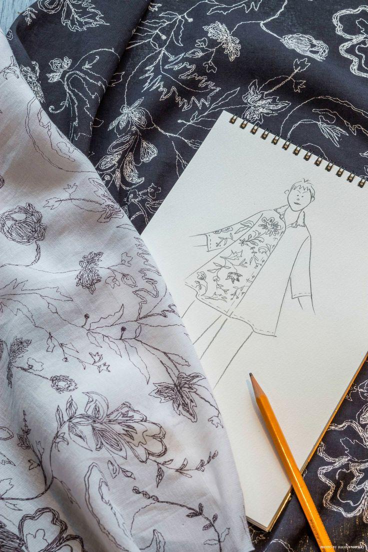 GRAPE Motomachi / Terry Voile Blouse #terryvoile #voile #blouse #handsketch #design #grapemotomachi