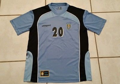 UHLSPORT Uruguay National Team Home Soccer Jersey Men's Medium
