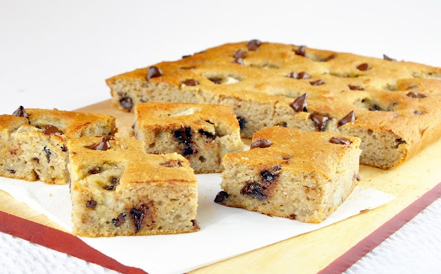 Double banana blondies | including cake | Sweetums | Pinterest