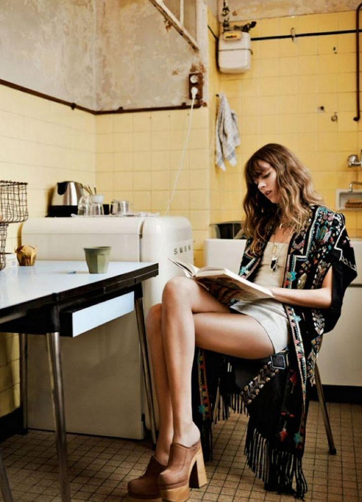 Freja En Un Editorial Romántico Para Glamour Francia Agosto 2014