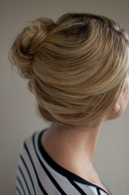 recogido informal de lado peinado recogido cabello pelo hairstyle