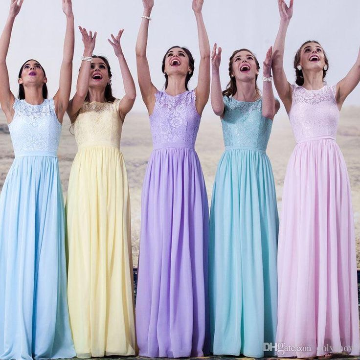 Cheap Colorful Long Bridesmaids Dresses Plus Size Formal Jewel Lace Chiffon Pleats Back Buttons Floor Length Bridesmaid Dress Contemporary Bridesmaid Dresses Discount Bridesmaid Dresses Online From Onlyshow, $60.31| Dhgate.Com