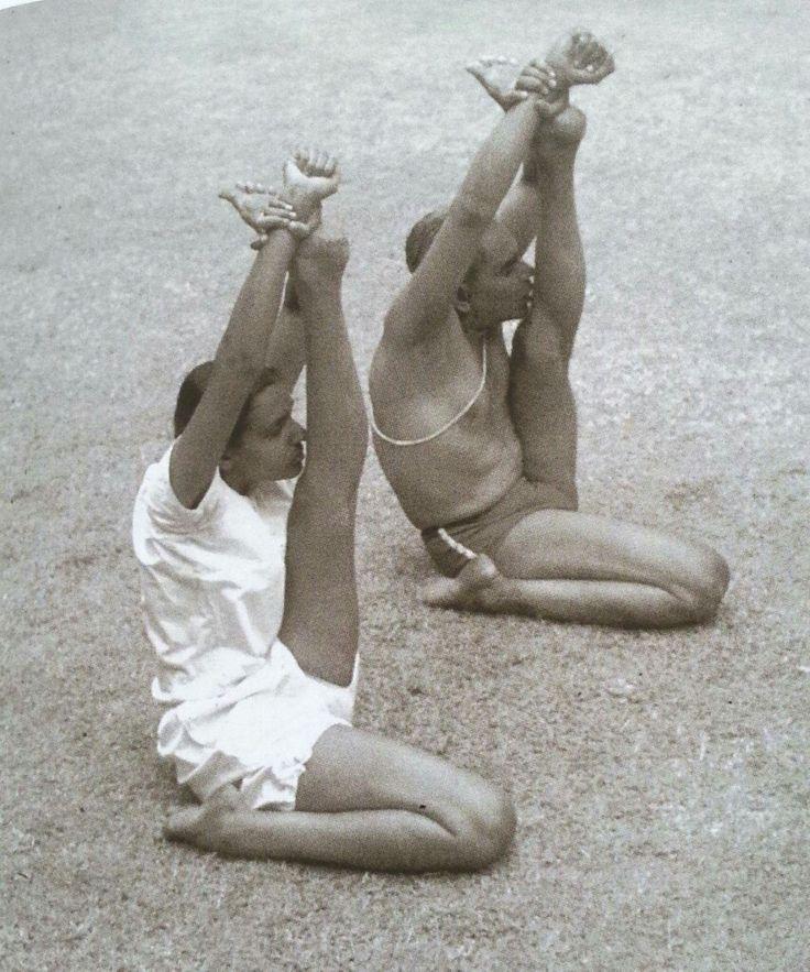 Krounchasana /BKS and Geeta Iyengar