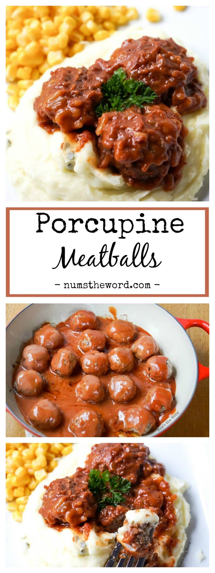 Porcupine Meatballs are rice filled meatballs cooked in a tomato based sauce. Simple, hearty and delicious! A perfect meal for family and friends!