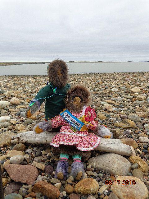 Handmade Inuvialuit dolls by ArcticOceanDesigns on Etsy