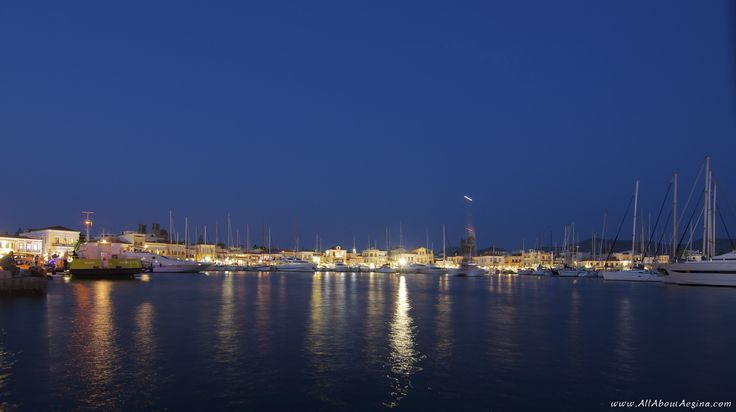 The town of Aegina ... by night