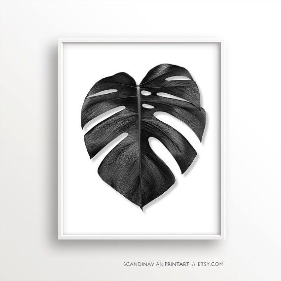 347 best mockups images on pinterest miniatures mockup and model digital download art monstera palm leaf black white welcome to scandinavian print fandeluxe Image collections
