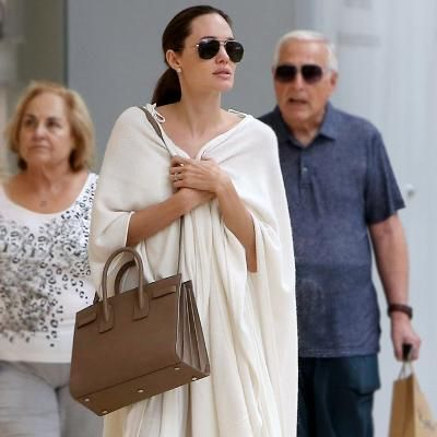 Hot: Angelina Jolie Looks Seriously Angelic During a Trip to the Mall with Her Kids