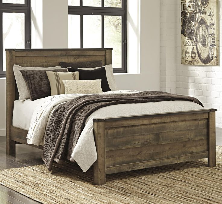 Best Trinell Queen Panel Bed By Signature Design By Ashley 400 x 300