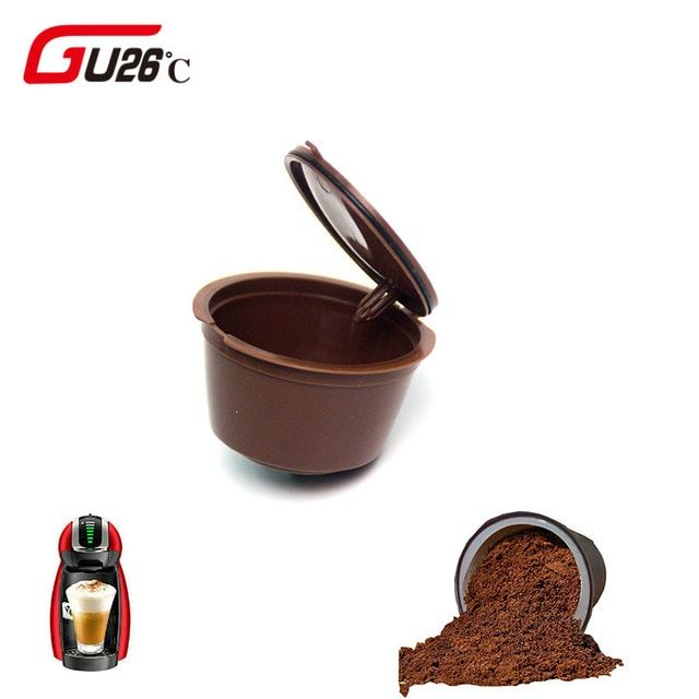 1pc 11 Color Plastic Refillable Coffee Capsule Cup 200 Times