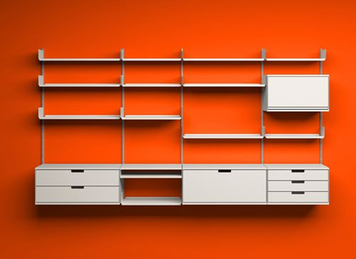 a whole article on wall rack systems i love the retro feel in the new woods vitsoe 606 universal shelving system designed by dieter rams