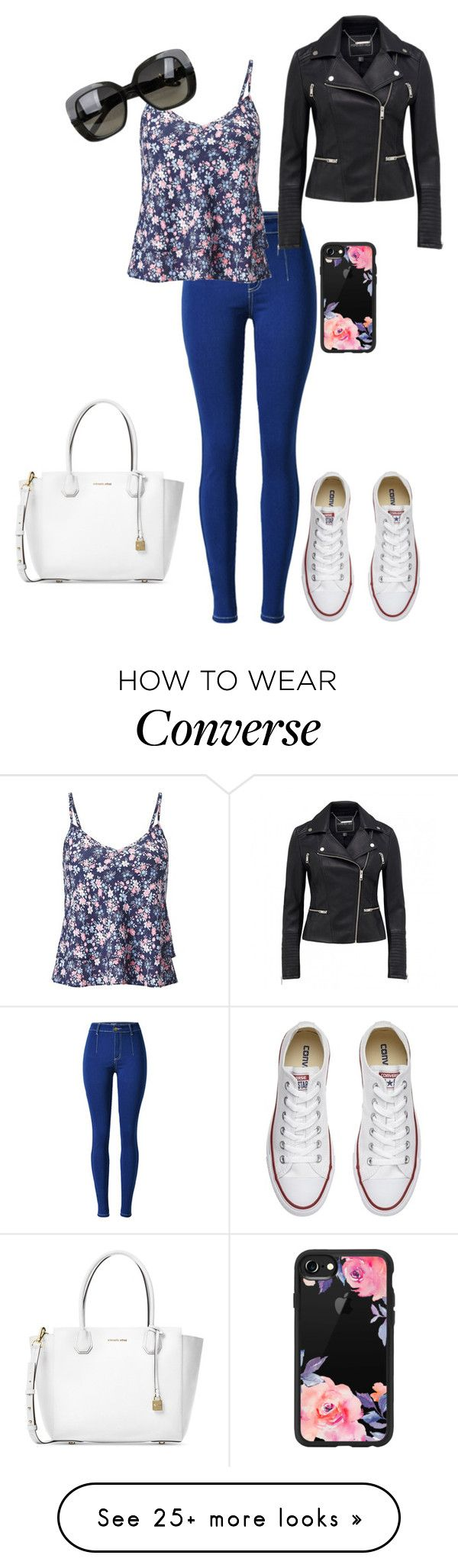"""Untitled #31"" by katepenna on Polyvore featuring Miss Selfridge, Converse, Bottega Veneta, Michael Kors and Casetify"