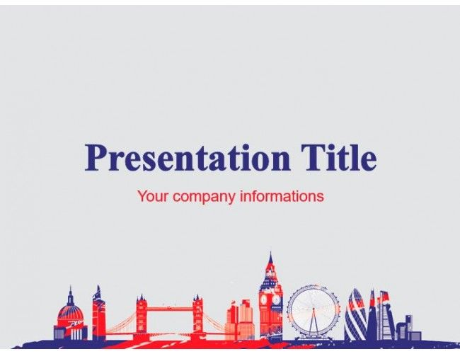 London S Famous Places Free Power Point Template Powerpoint Templates Powerpoint Template Free Simple Powerpoint Templates