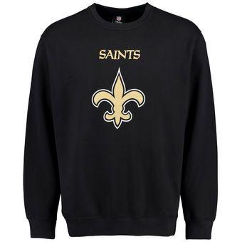 Men's New Orleans Saints Black Critical Victory Crew Sweatshirt