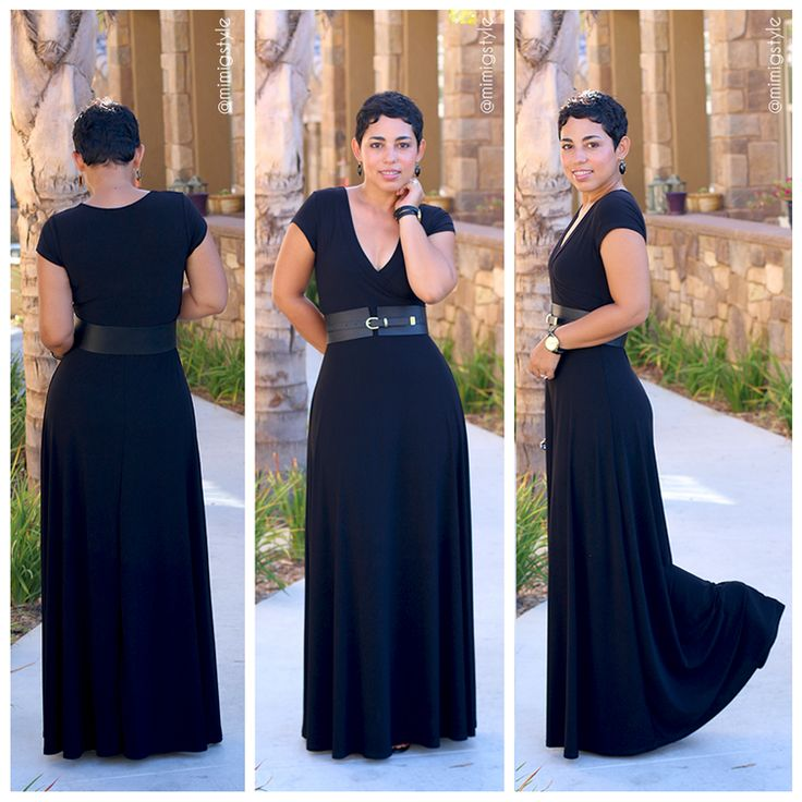 #DIY Black Maxi Dress & Pattern Review - #MimiGStyle