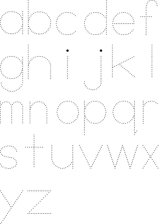 Learn to print the alphabet - traceable print outs
