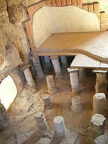 Herod's hot baths, sauna, in the fortress of Masada