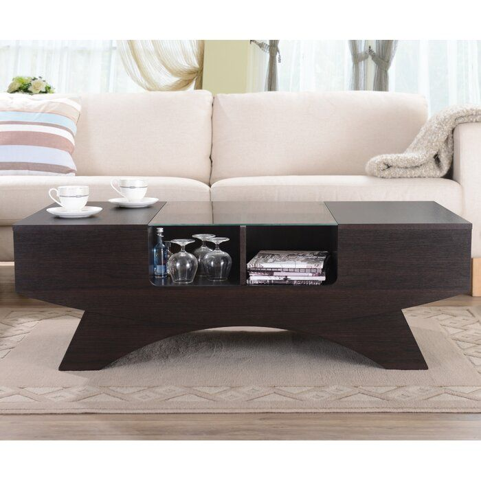 Madilynn Trestle Coffee Table With Storage In 2020 Coffee Table With Storage Coffee Table Coffee Table Wood