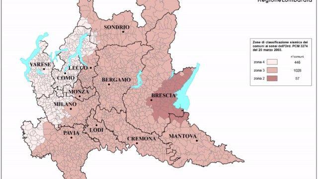 Zone sismiche: la Lombardia approva le linee di indirizzo e coordinamento per i Comuni