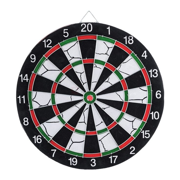 15-inch English Style & Classic Target Dart Board, This 15-inch English Style & Classic Target Dart Board features Double-Side games playing. The front side is 20-Pt. English Style dart game while the reverse side is Classic Target game. This Dartboard is perfect for developing your dart skills and co-ordination.