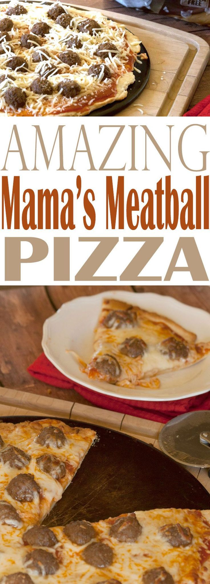 This is a super duper, easy meatball pizza that you can make as homemade or semi-homemade as you want. Get ready to put an easy weeknight meal on the table.
