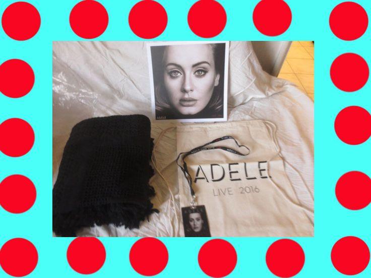 NEW Exclusive ADELE 2016 VIP Tour Merchandise Bag, Swag Blanket, Photo, Lanyard