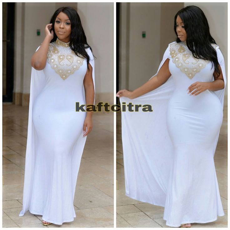 Cassey Cape Dress ( White Colour )