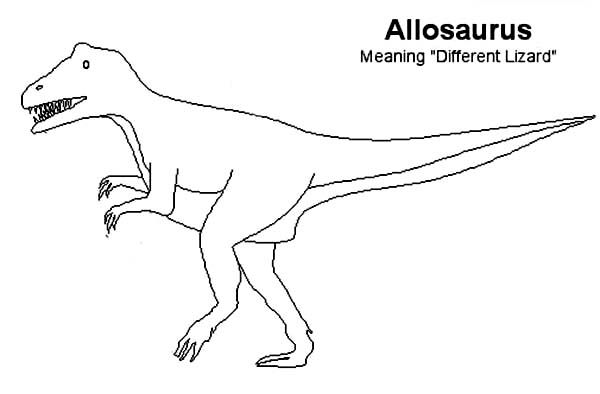 Allosaurus Kids Drawing Of Allosaurus Coloring Page Drawing For Kids Coloring Pages Online Coloring For Kids