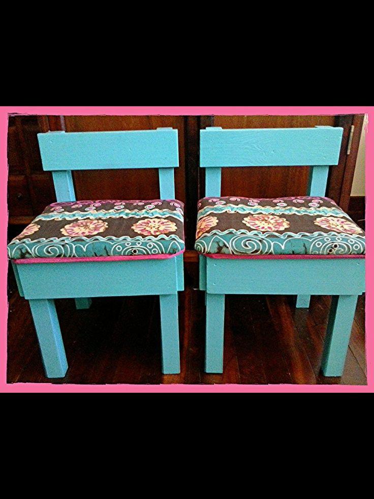 Upcycled kids stools
