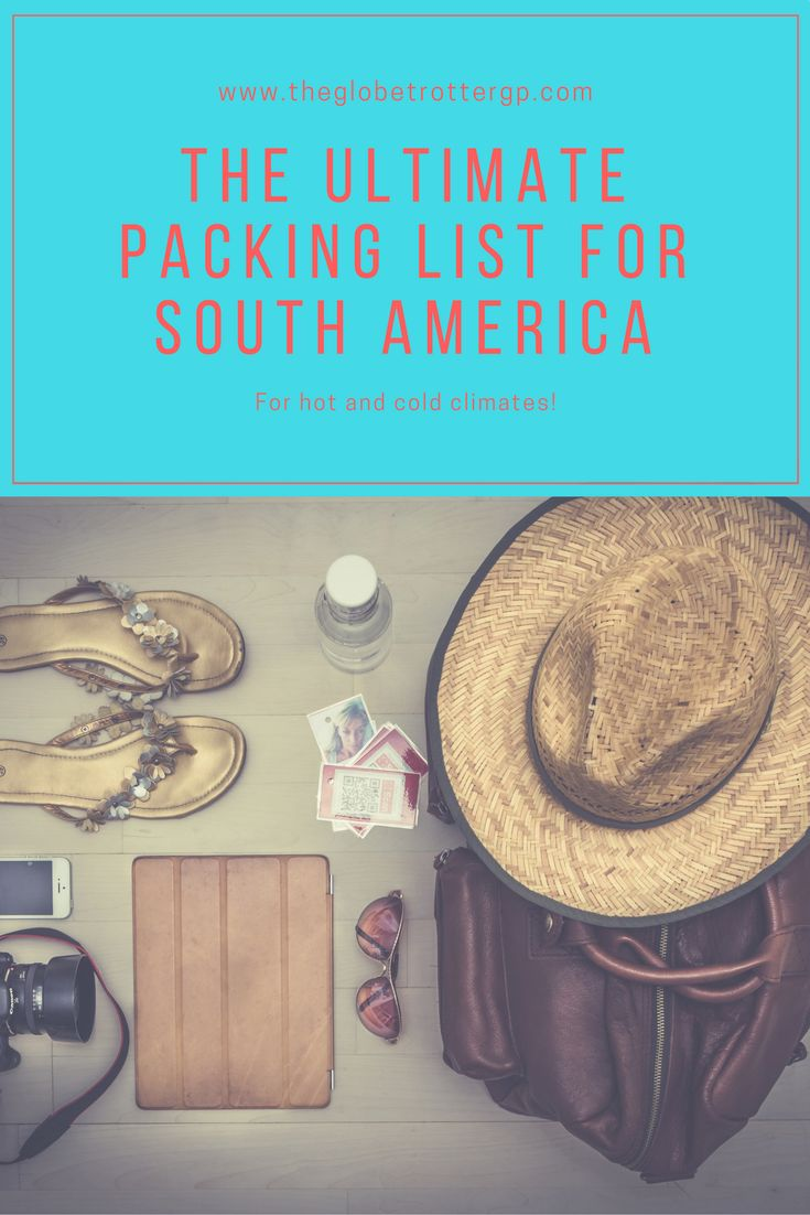 The ultimate packing list for girls for travel in south america where you will need summer beach clothes AND winter cold weather clothes! From camping up mountains to road tripping through cities, this comprehensive packing guide for vactaion has got you covered! Stop stressing about what to pack and start looking forward to your holiday or backpacking trip! #packinglist #packinglistforgirls #packinglistforsouthamerica