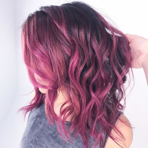"""The reddish color in """"cool-toned plum""""!"""