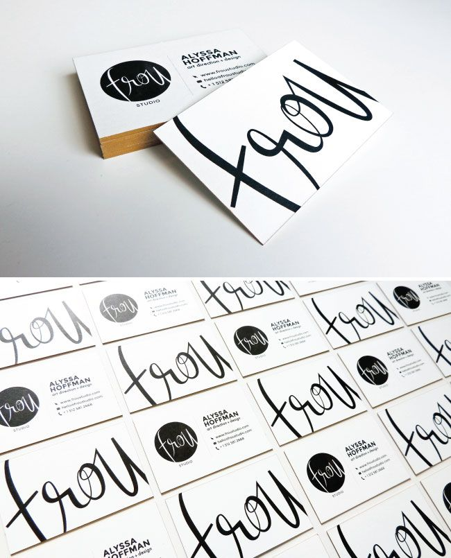 DIY edge painted business cards http://www.etsy.com/shop/BannerSetDesigns?ref=pr_shop_more