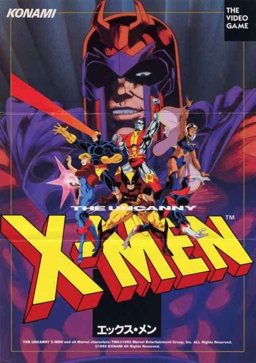 metalgearflexzone poster for x men arcade arcade game flyers