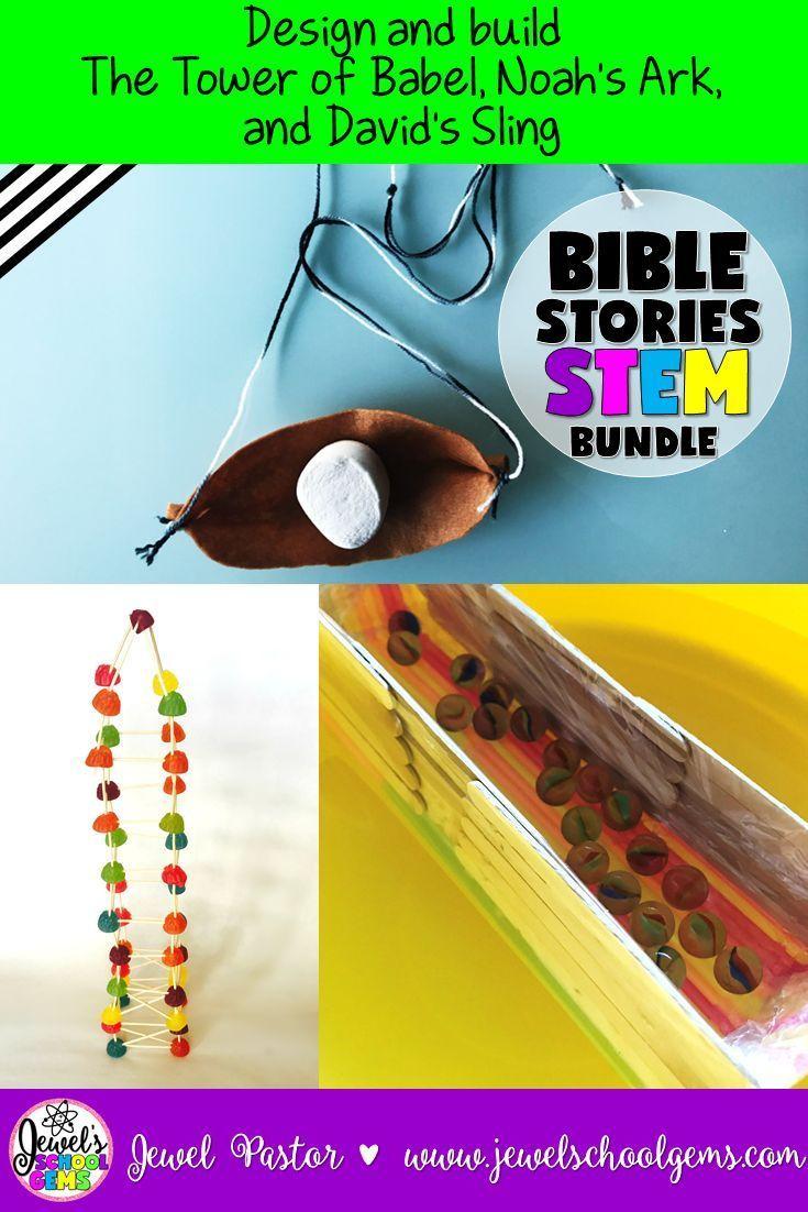Bible Stories Stem Challenge Bundle Volume 1 Bible Stem Activities Bundle Stem Challenges Activities Stem Activities