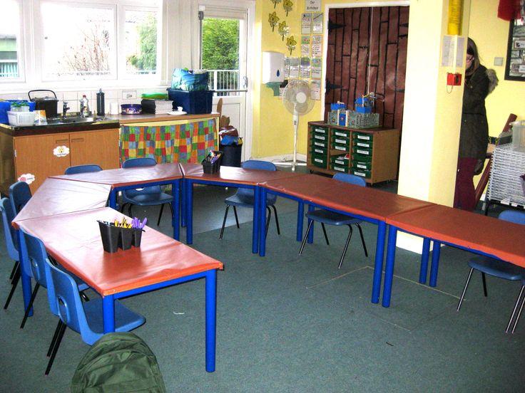 Castle classroom banquet tables
