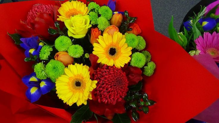 Jilly's beautiful flowers. Fabulous colours, love the iris.