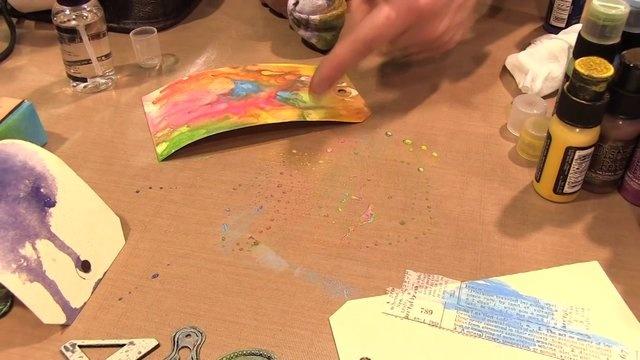 Tim Holtz demos his Distress Paints. #Tim Holtz #Distress Paints