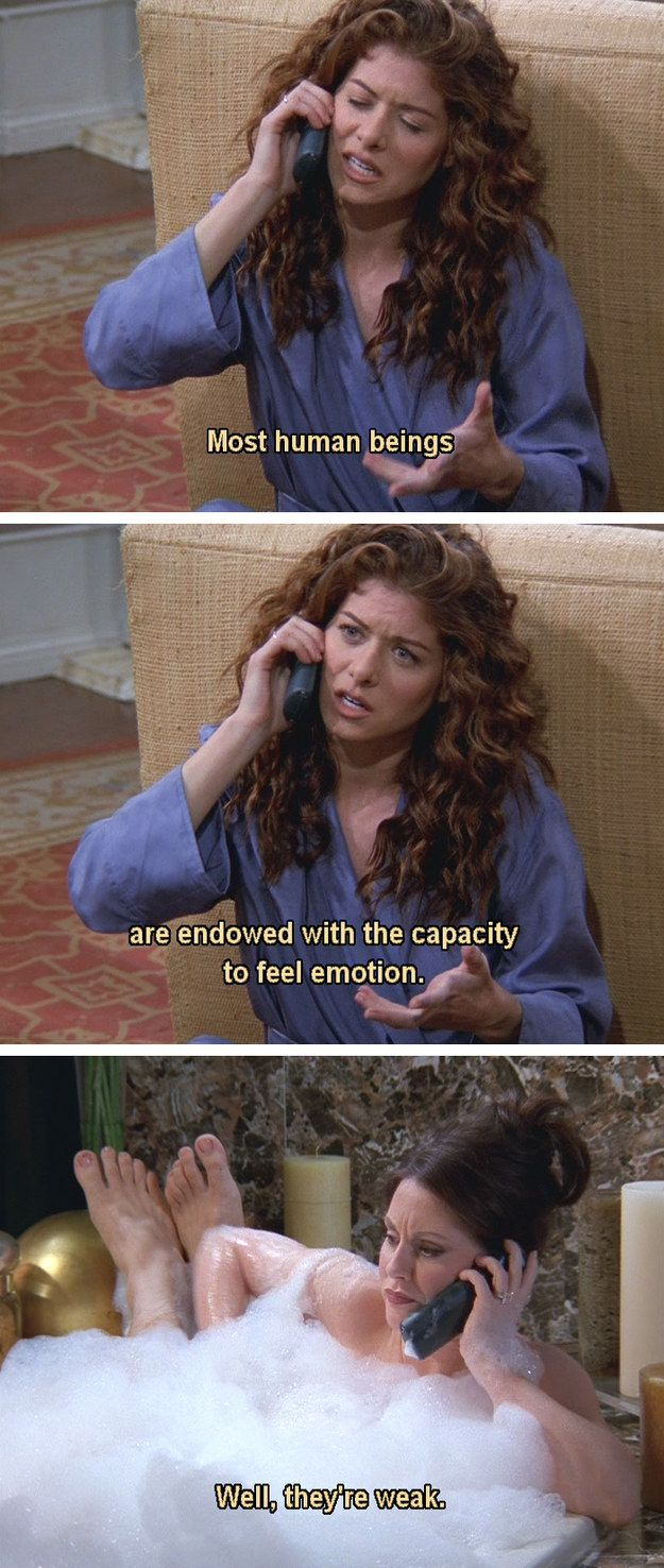 """E is for Emotions.   The Alphabet According To Karen Walker Of """"Will & Grace"""""""