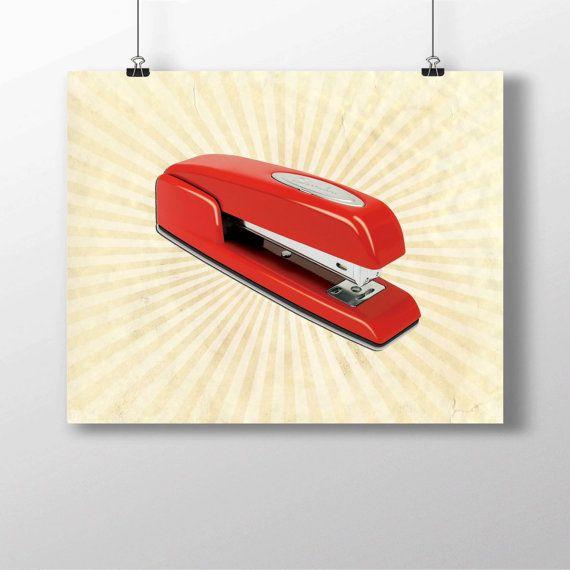 Office Space Red Swingline Stapler Funny Minimalist Photo Print Art IniTech…