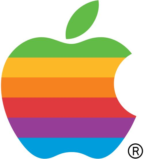 File:Apple Computer Logo rainbow.svg