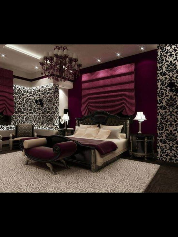 black and purple wallpaper for bedrooms this such a bedroom with black and white 20364