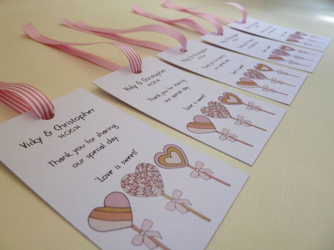 """""""Love is sweet!"""" Wedding Favours - Rachel Ali Hawkins Illustration"""