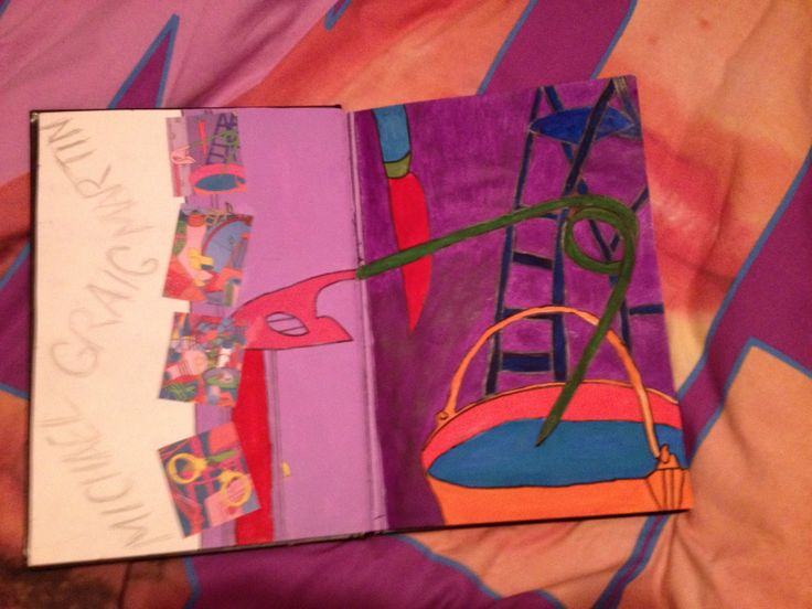 A person's response/research page inspired by Michael Craig Martin
