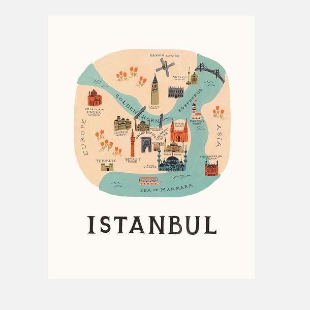 Istanbul Print byRifle Paper Co.