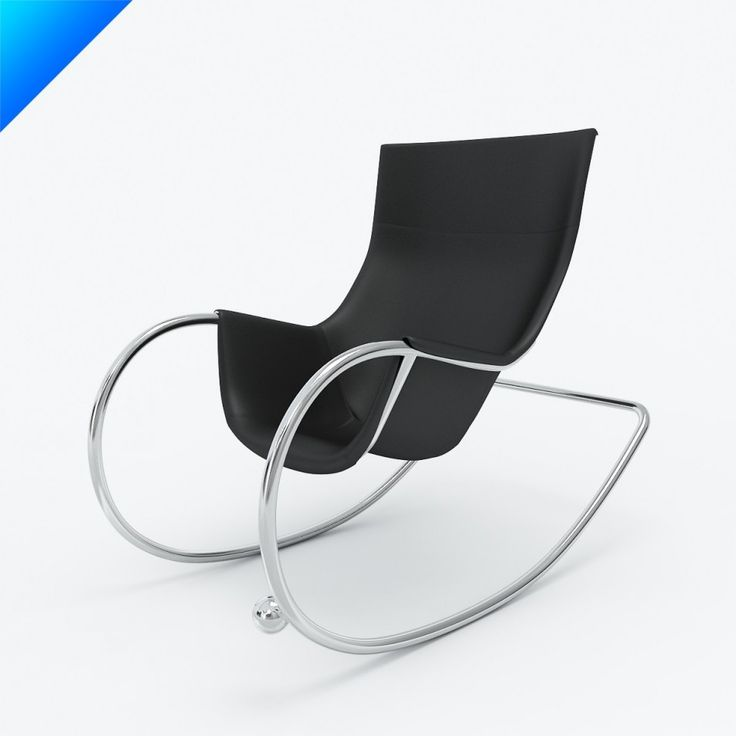 Furniture Comfortable and Charming Modern Rocking Chair: Black Keinu Modern Rocking Chair Designed By Eero Aarnio